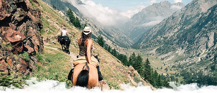 Les Alpes de Haute-provence à cheval en Septembre