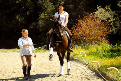 Brigitte Bonnot et le cheval
