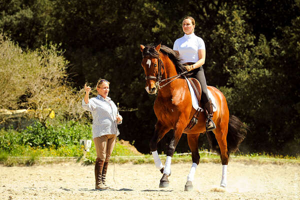 Brigitte Bonnot et le galop
