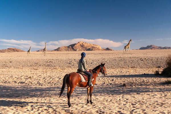 Safari à cheval en Namibie